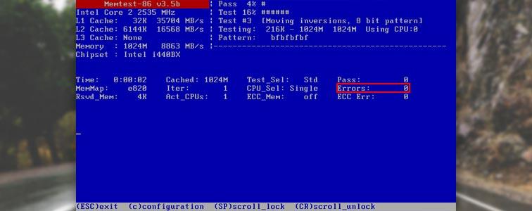 Тестирование оперативной памяти через Memtest86