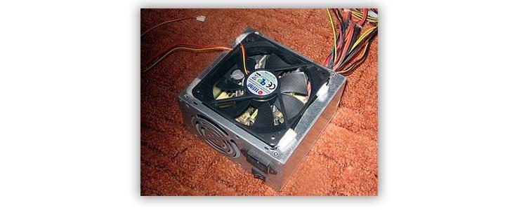 Блок питания и вентелятор в нём