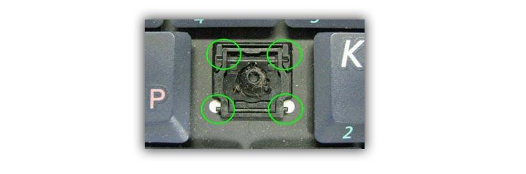 Окисление клавиши в ноутбуке