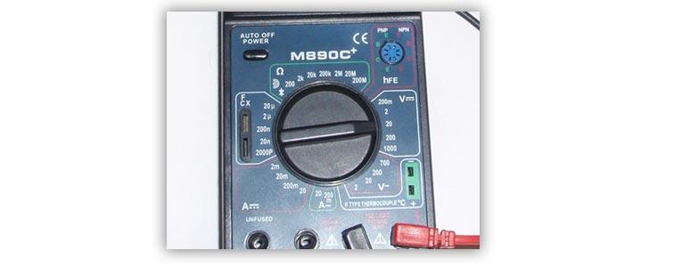 Переводим мультиметр в режим непрерывного тока до 20 Вт