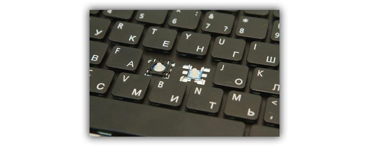 Ремонт клавиши в ноутбуке