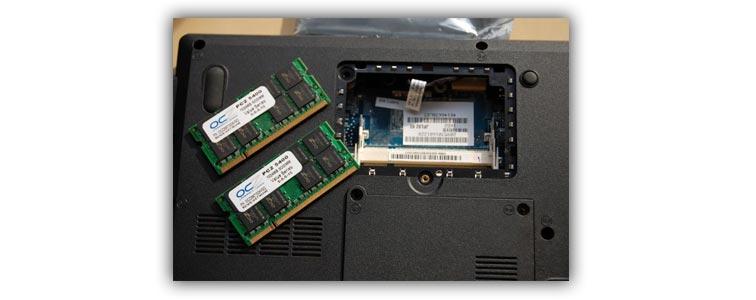 Оперативная память в нотбуке