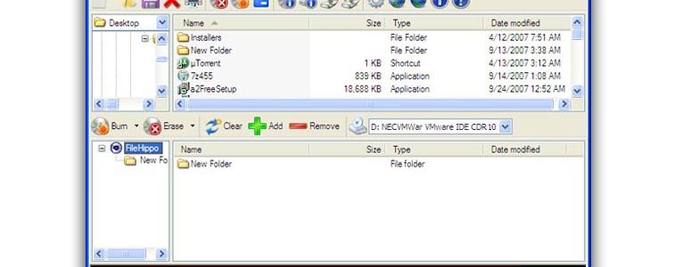 CD Burner XP интерфейс прогараммы